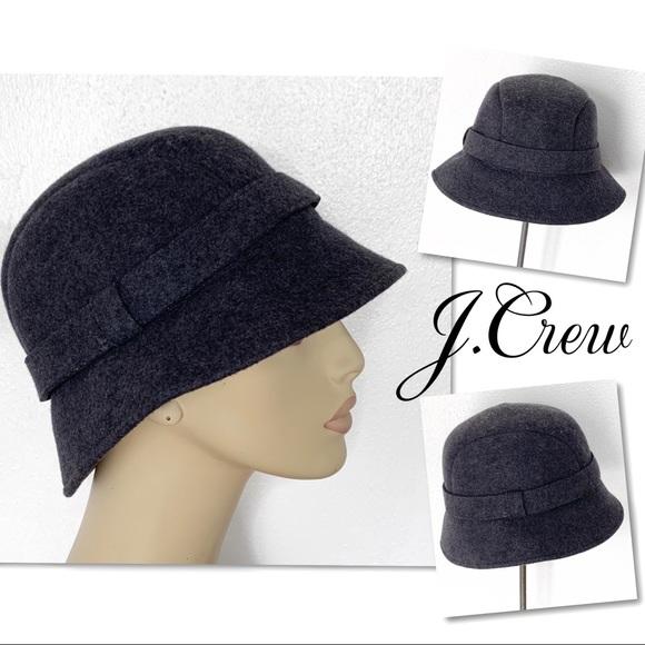 J. Crew Accessories - J.Crew wool Bucket Hat in Grey SZ S / M